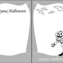 Carte d'invitation Halloween : Jack O'Lantern