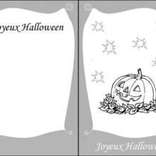 Carte d'invitation Halloween : Citrouille