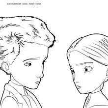 Coloriage : Jack et Miss Acacia