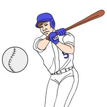 sport, Coloriage BASEBALL