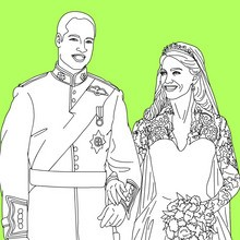 Coloriage KATE et WILLIAM