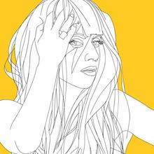 Coloriages LADY GAGA