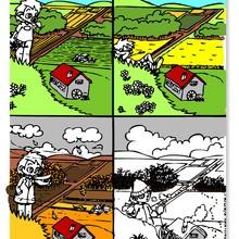 Coloriage les 4 saisons coloriages coloriage imprimer gratuit - Dessin 4 saisons ...