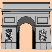 France, Coloriage MONUMENTS FRANCAIS