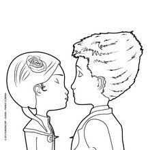 Coloriage : Le baiser