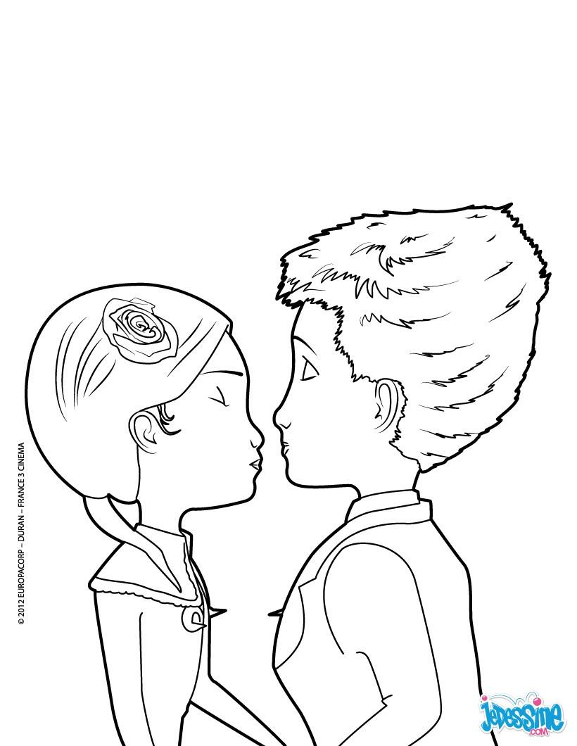 Le méchant Joe Coloriage Le baiser