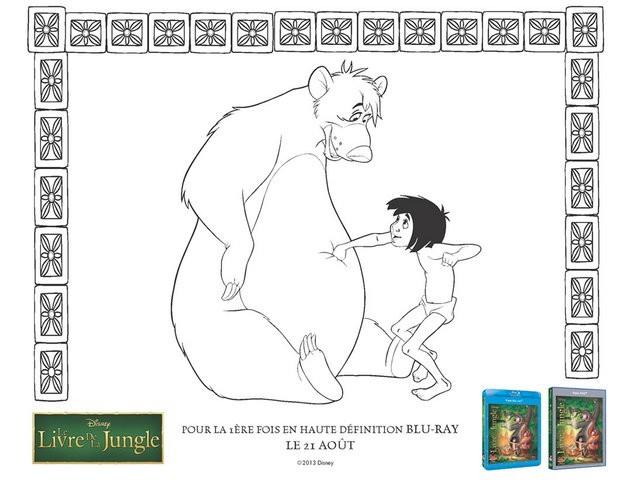 Coloriages Le Livre De La Jungle Baloo Et Mowgli Fr Hellokids Com