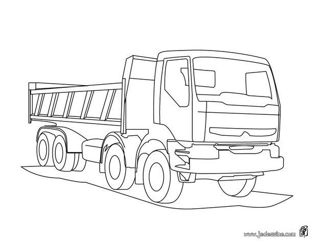 Coloriages Coloriage D'un Camion De Chantier