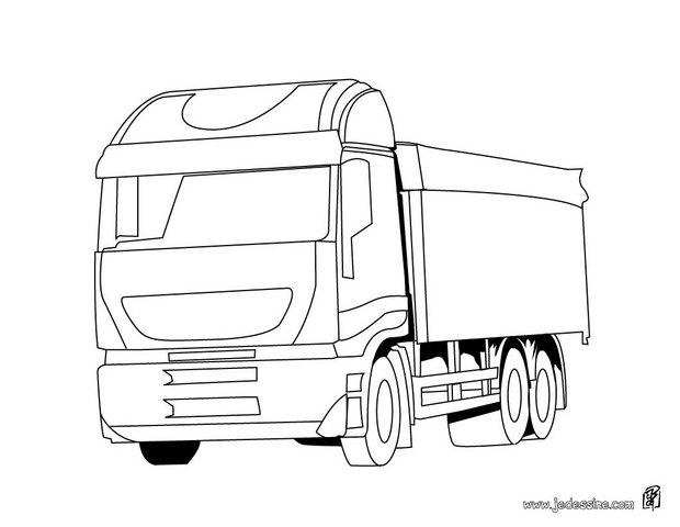coloriages coloriage d un camion transporteur fr