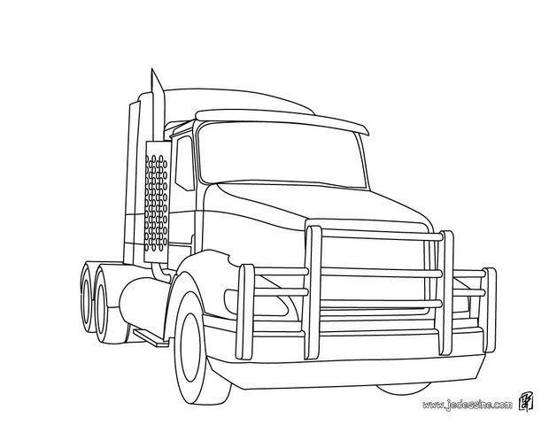 Coloriages coloriage d 39 un tracteur am ricain fr - Dessin de camion americain ...