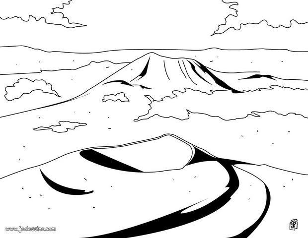 Coloriage d'un Volcan d'Auvergne