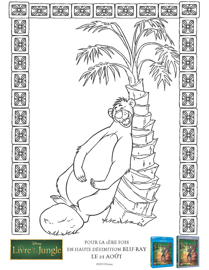 Coloriage Le Livre de la Jungle L ours Baloo