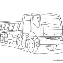 Coloriages grand camion benne colorier - Coloriage camion de poubelle ...
