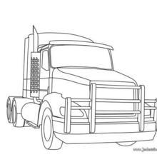 Coloriages coloriage d 39 un camion porte engin - Camion americain dessin ...