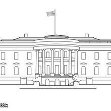 Coloriage de la Maison Blanche