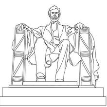 Coloriage du Lincoln Monument