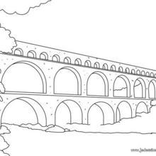 Coloriage du Pont du Gard