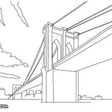Coloriage du pont le Golden Gate