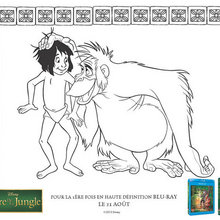 Coloriage : Mowgli et King Louie