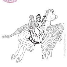 Catania et Mariposa chevauchent Sylvie