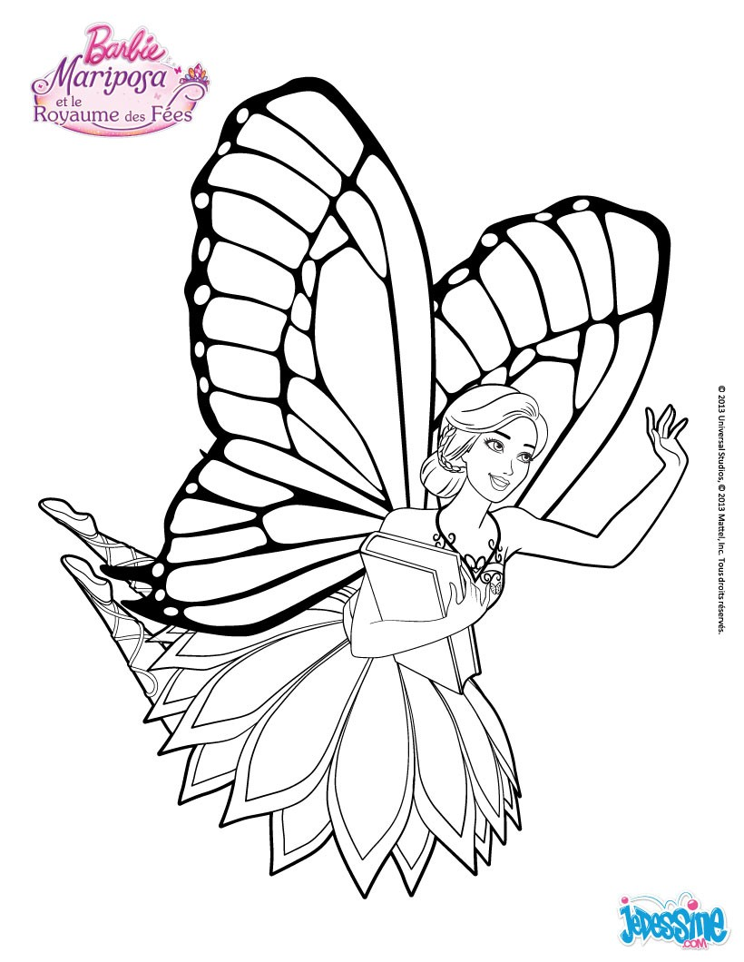 Coloriages la f e mariposa en vol - Coloriage barbie fee ...