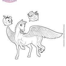 Sylvie le cheval ailé de Mariposa