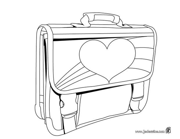 Coloriages coloriage d 39 un cartable d 39 cole de filles - Cartable dessin ...