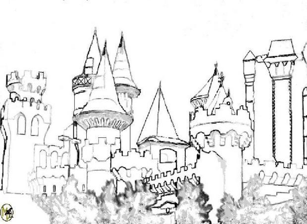 Coloriages coloriage du ch teau de m lusine - Dessin d un chateau ...