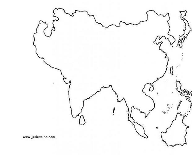 Carte Asie Est Vierge.Coloriages Fond De Carte De L Asie Fr Hellokids Com