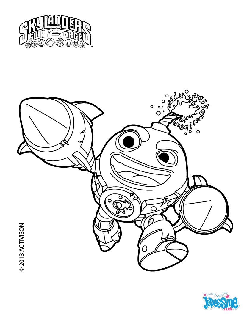 Coloriages countdown - Coloriages skylanders ...