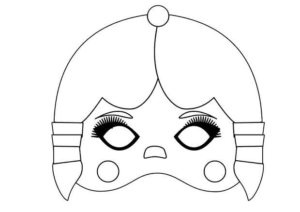 Activit s manuelles masque de petite indienne fr - Masque oiseau a imprimer ...