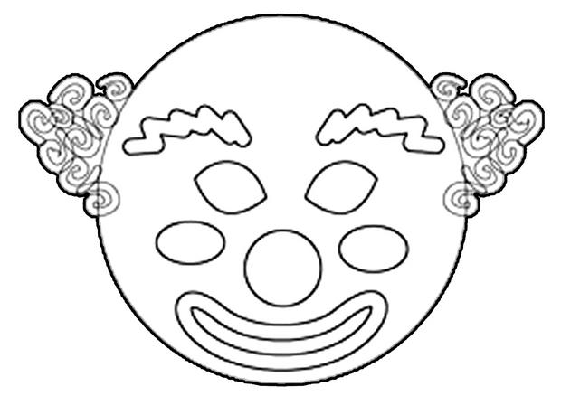 Coloriage Masque Clown.Activites Manuelles Masque De Clown Fr Hellokids Com