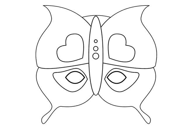 Activit s manuelles masque de papillon - Dessin papillon a decouper ...