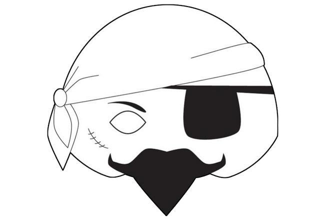 Activit s manuelles masque de pirate - Masque oiseau a imprimer ...
