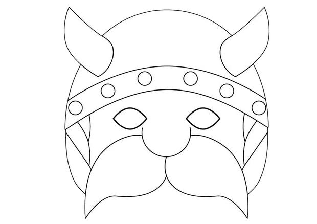 Activit s manuelles masque de viking - Masque de chat a colorier ...