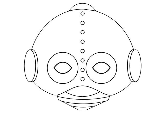 masque de robot - Masque Colorier