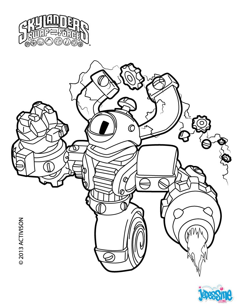 Coloriages magna charge - Dessin de skylanders ...