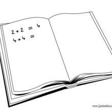 Coloriage d'un cahier d'exercices