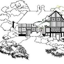 Coloriage d'un cottage