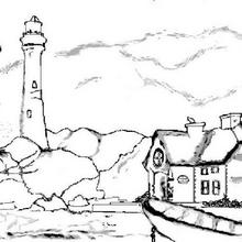 Coloriage d'un phare