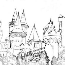Coloriage du château de Mélusine