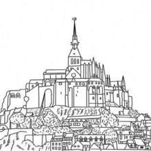 Coloriage du Mont St Michel