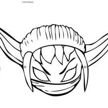 Fiche bricolage : Masque à découper SKYLANDERS STEALTH ELF