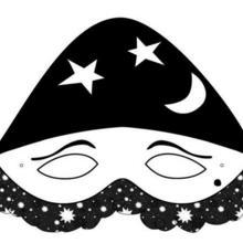 Masque à imprimer : Masque Arlequin