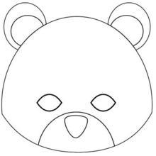 Fiche bricolage : Masque d'ourson