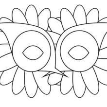 Fiche bricolage : Masque de Carnaval : LA FLEUR