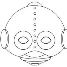 Fiche bricolage : Masque de Robot