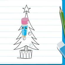Cours anim s de dessin dessiner un sapin de no l - Sapin de noel a dessiner ...