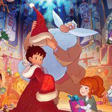 Noël, Coloriage L'APPRENTI PERE NOEL ET LE FLOCON MAGIQUE