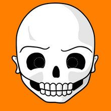 Visage de squelette